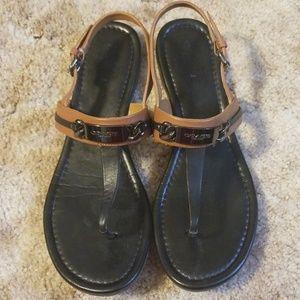 Coach Caterine Sandals - Black/Tan